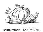 composition of fresh ripe... | Shutterstock .eps vector #1202798641