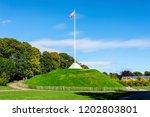 the mound  artificial hill ... | Shutterstock . vector #1202803801