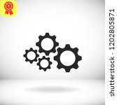 cogs vector icon | Shutterstock .eps vector #1202805871