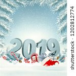 merry christmas background with ... | Shutterstock .eps vector #1202812774