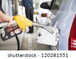 gasoline pump refilling... | Shutterstock . vector #120281551