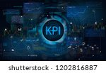 key performance indicator  kpi  ... | Shutterstock .eps vector #1202816887