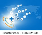 abstract concept symbol medical ... | Shutterstock .eps vector #1202824831