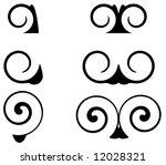 ornamental  swirl shapes | Shutterstock .eps vector #12028321