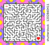 abstract square maze. an... | Shutterstock .eps vector #1202860411