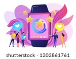 users with hearts like huge... | Shutterstock .eps vector #1202861761