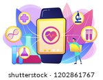doctor and smartwatch with... | Shutterstock .eps vector #1202861767