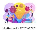 businessmen handshake and big... | Shutterstock .eps vector #1202861797