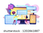 programmers with browser... | Shutterstock .eps vector #1202861887