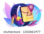 users looking at smartwatch... | Shutterstock .eps vector #1202861977