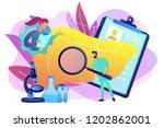doctors examining huge liver... | Shutterstock .eps vector #1202862001