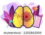 huge brain with red circles... | Shutterstock .eps vector #1202862004