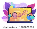 scientists looking at dna and... | Shutterstock .eps vector #1202862031