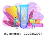 scientists with folder and... | Shutterstock .eps vector #1202862034