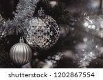 christmas ornament ball... | Shutterstock . vector #1202867554