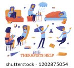 help in depression set   young... | Shutterstock .eps vector #1202875054