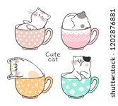Draw Character Design Cute Cat...