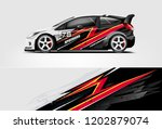 car decal wrap design vector....   Shutterstock .eps vector #1202879074