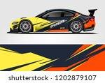 car decal wrap design vector.... | Shutterstock .eps vector #1202879107