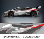 car decal wrap design vector.... | Shutterstock .eps vector #1202879284