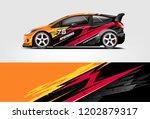 car decal wrap design vector.... | Shutterstock .eps vector #1202879317