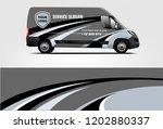 van wrap design. wrap  sticker...   Shutterstock .eps vector #1202880337