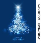 abstract christmas bokeh blue... | Shutterstock .eps vector #1202884891