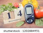 date of 14 november on cube... | Shutterstock . vector #1202884951