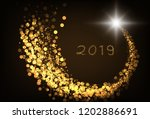 happy new year gold color... | Shutterstock .eps vector #1202886691