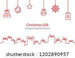 christmas gift box background ...   Shutterstock .eps vector #1202890957