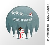 merry christmas and happy new... | Shutterstock .eps vector #1202892064