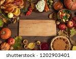 autumn festive thanksgiving... | Shutterstock . vector #1202903401