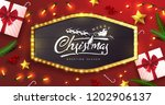 vector merry christmas and... | Shutterstock .eps vector #1202906137