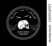 death before dishonor skull in... | Shutterstock .eps vector #1202918707