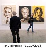 milan   april 08  people look... | Shutterstock . vector #120292015