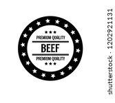 beef premium quality badge.... | Shutterstock .eps vector #1202921131