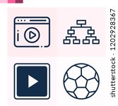 contains such icons as football ... | Shutterstock .eps vector #1202928367