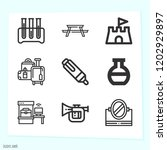 simple set of 9 icons related... | Shutterstock .eps vector #1202929897
