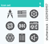 contains such icons as browser  ... | Shutterstock .eps vector #1202935957