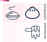 contains such icons as dumpling ... | Shutterstock .eps vector #1202936131