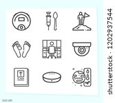 simple set of 9 icons related... | Shutterstock .eps vector #1202937544