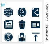 simple set of  9 filled icons... | Shutterstock .eps vector #1202938597