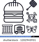 set of 6 animals outline icons... | Shutterstock .eps vector #1202943931