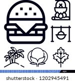 set of 6 nature outline icons... | Shutterstock .eps vector #1202945491