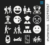 set of 16 people filled icons... | Shutterstock .eps vector #1202950567