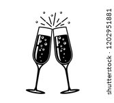 champagne glass vector icon.  | Shutterstock .eps vector #1202951881