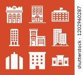 apartment 9 filled icon set... | Shutterstock .eps vector #1202960287