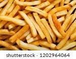 french fries as background  top ... | Shutterstock . vector #1202964064