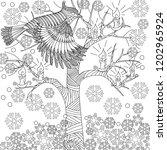 doodle winter drawing. art...   Shutterstock .eps vector #1202965924