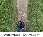woman's autumn shoes on the... | Shutterstock . vector #1202967874